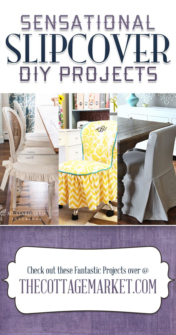 Sensational Slipcover DIY Projects {How to make Slipcovers} | See more about Slipcovers, DIY projects and Projects. | See more about Slipcovers, DIY projects and Projects.