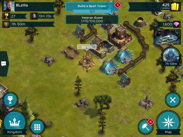 Rival Kingdoms - Tycoon Phase HUD - UI HUD User Interface Game Art GUI iOS Apps Games