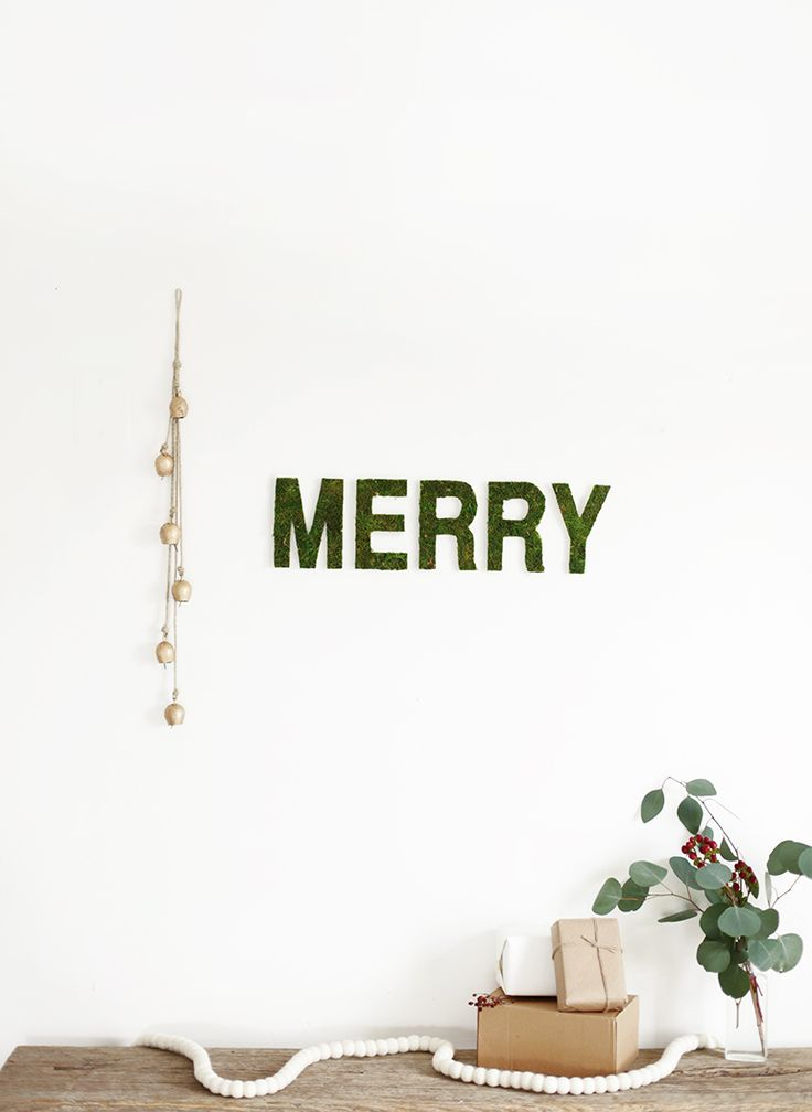 Merry Moss Wall Letters | The Merrythought » DIY | Bloglovin'