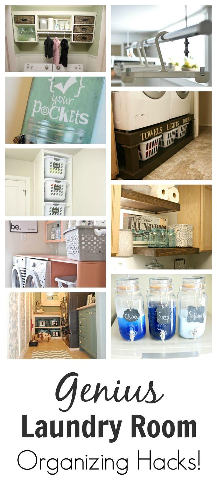 Organized laundry room hacks pottery pottery barn and for Pottery barn laundry room