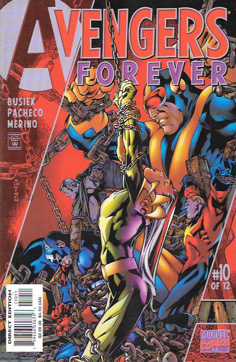 """Tomorrow and Tomorrow and Tomorrow"" ___ script by Roger Stern (plot) and Kurt Busiek (plot & script), Art And Cover Carlos Pacheco , This Issue Is In Very Fine / Near Mint Condition , The Story ..The"