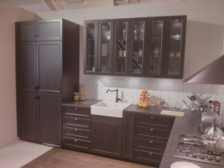 116 best images about ikea kitchens on pinterest grey cabinets cabinets an - Cuisine laxarby ikea ...