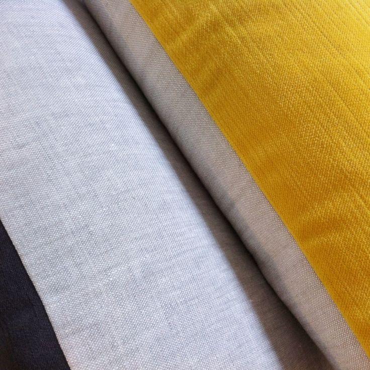 Velvet and linen mix cushion detail. 45cm x 45cm. Kate Wilson Green