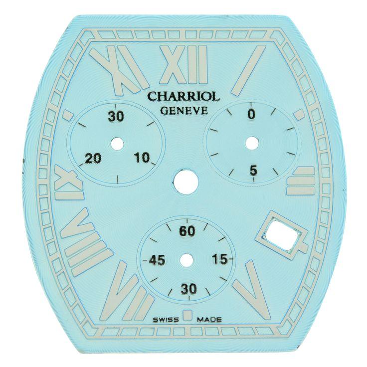 Philippe Charriol 27 x 28.5 mm Blue Women's Chronograph Roman Watch Dial