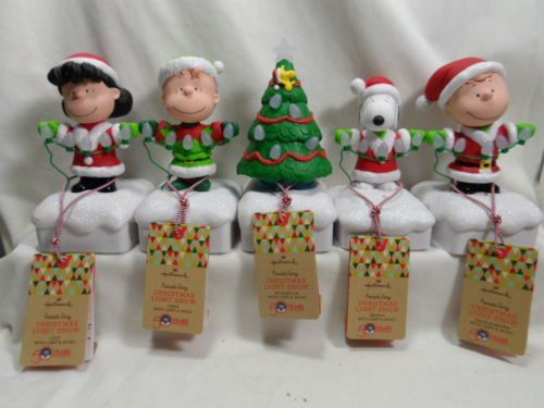 2015 Hallmark Peanuts Christmas Light Show Set of 5 Snoopy Lucy Charlie Brown -- Click image to review more details.