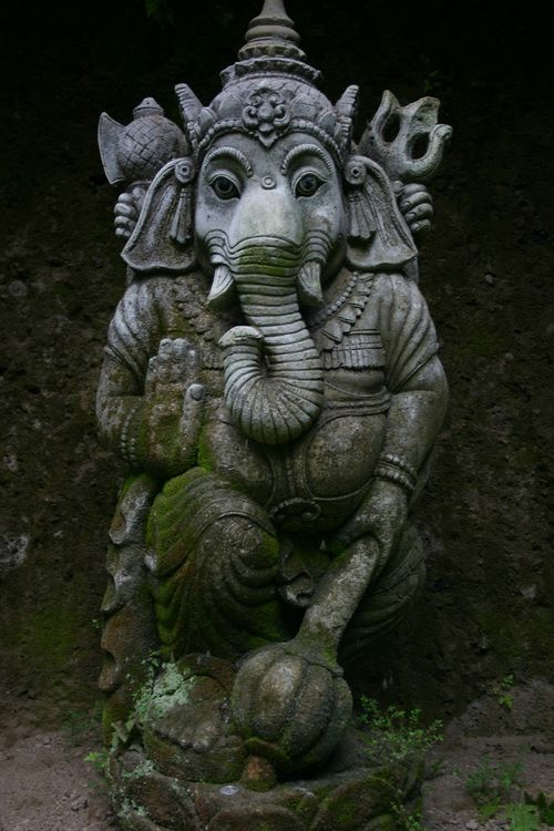 Ganesha - his story is delightful: him being a God riding a mouse/rat - light enough, I guess, since he is a Spirit...