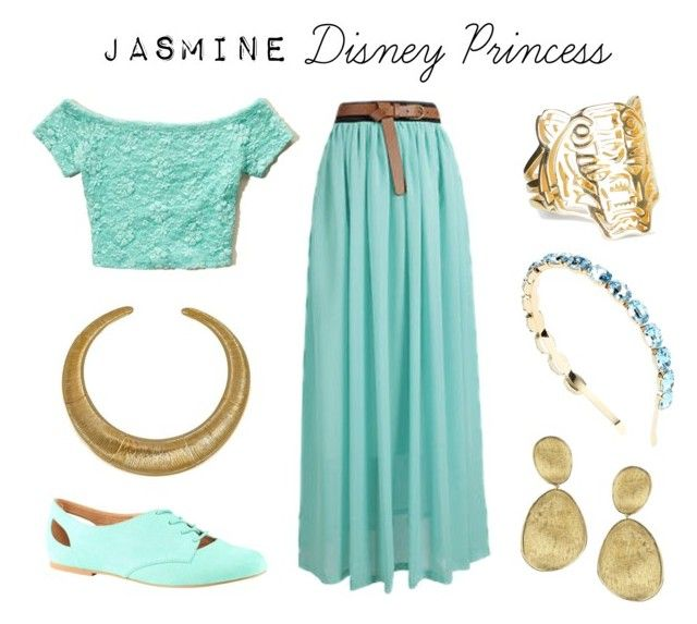 """Jasmine - Disney Princess"" by costume-creativity ❤ liked on Polyvore featuring Hollister Co., Dolce&Gabbana, ALDO, Marco Bicego, Hissia, Kenzo, disney, jasmine, Disneyprincess and costumecreativity"