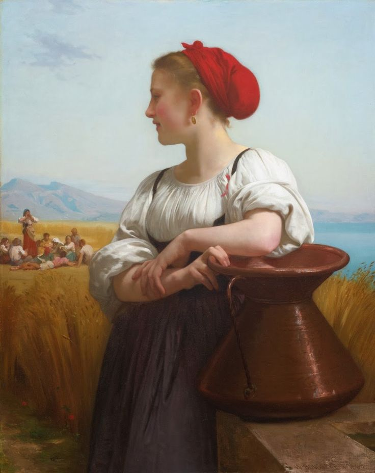 FRENCH PAINTERS: William-Adolphe BOUGUEREAU The Harvester