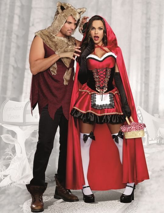 Red Riding Hood Wolf Costume, Sexy Costume, Fairytale Costume, Couple Costume
