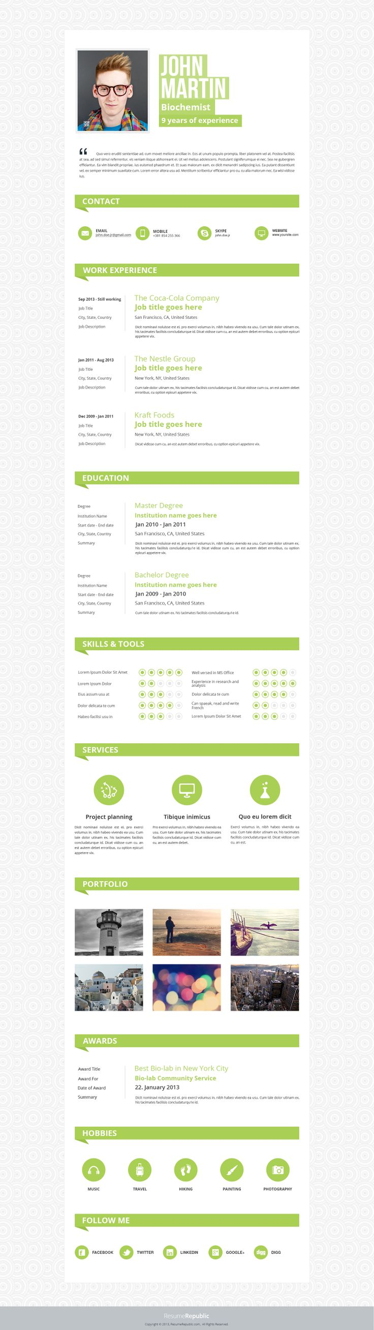 7 best resume template serpens images on pinterest resume