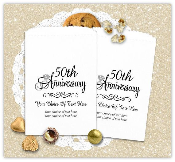 50th Wedding Favor Bags