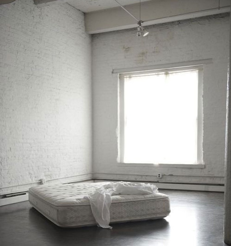 EMPTY SPACE U003d EXPOSED DEF: Some Large Spaces Leave Us Feeling Exposed. WHY:  This Space Leaves Us Feeling Exposed From The Bed Being On The Ground In  The ...
