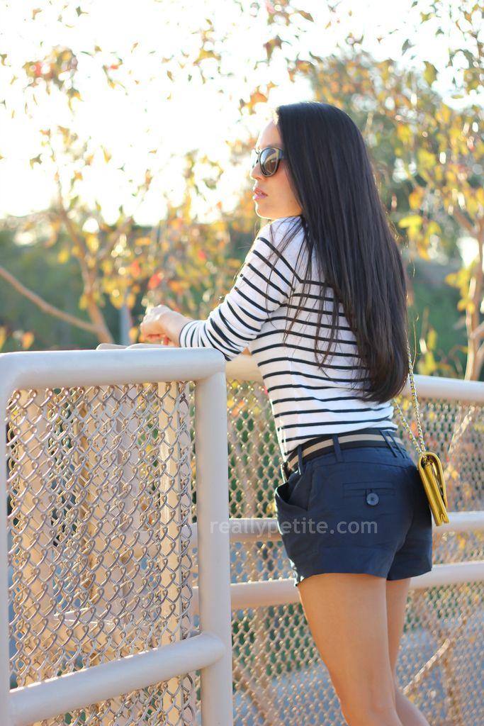 striped top, navy linen shortsF21Linenshorts4 Jpg, Linens Shorts