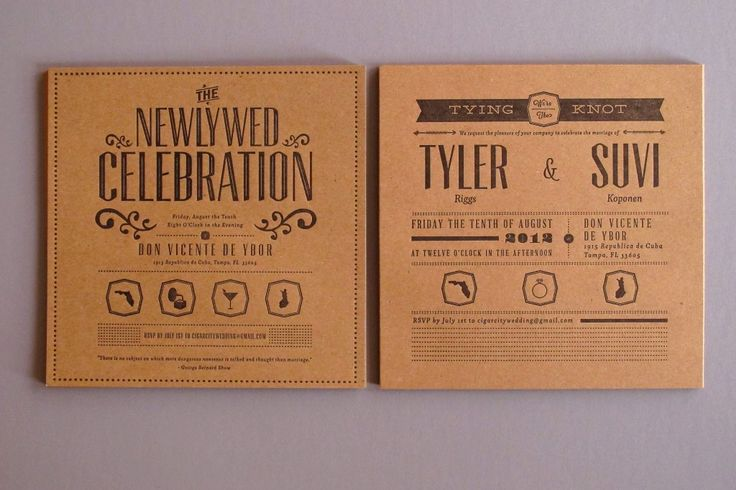 Get affordable letterpress wedding invitations with Thomas-Printers. You supply the design, they supply the skill. Prices start at $195.