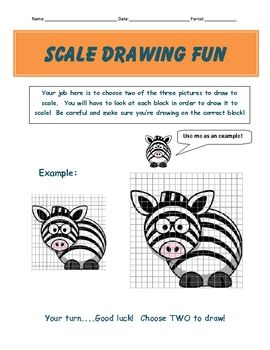scale drawing examples practice worksheet fun project middle schoolers scale and middle. Black Bedroom Furniture Sets. Home Design Ideas