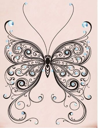 Bridal Butterfly Waterproof Rhinestone Tattoo Sticker on BuyTrends.com, only price $21.99