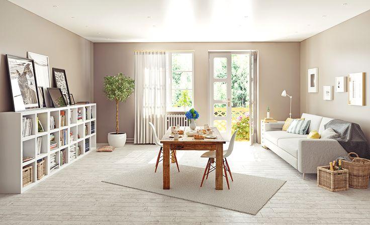 Fonksyionel ve rafine özellikleriyle ön plana çıkan İskandinav tarzı oturma odaları için duvarlarınızda siyah, beyaz ve bej tonlarını kullanabilirsiniz.