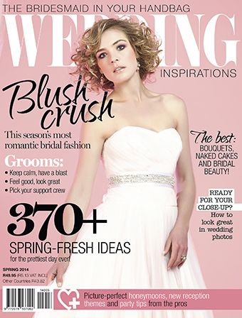 Spring 2014 (September) biggest issue of Wedding Inspirations magazine yet! Includes a fabulous Grooms feature as well. www.weddinginspirations.co.za