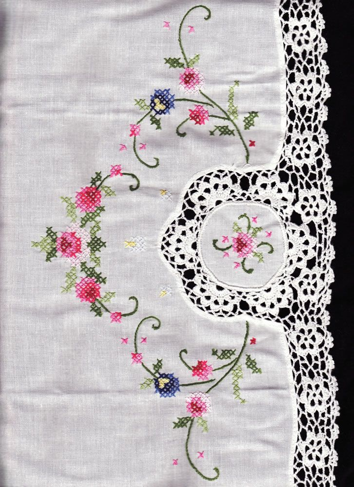 cross stitch tablecloth patterns free - Buscar con Google