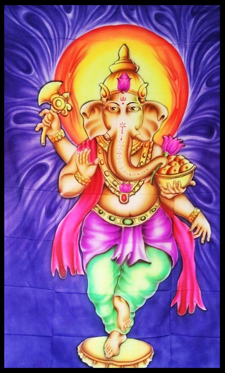 Lord Ganesh UV tenture psychédélique Decor par LoveSpiritPsy