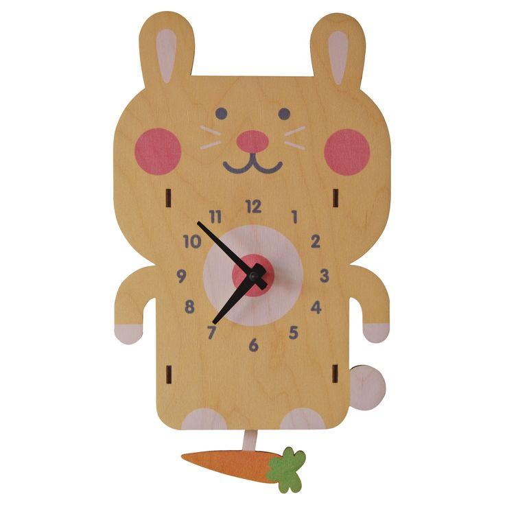 rabbit pendulum clock - modern moose - pendulum clock - 1