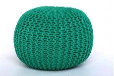 Haboo kötött puff 35x50 cm smaragd