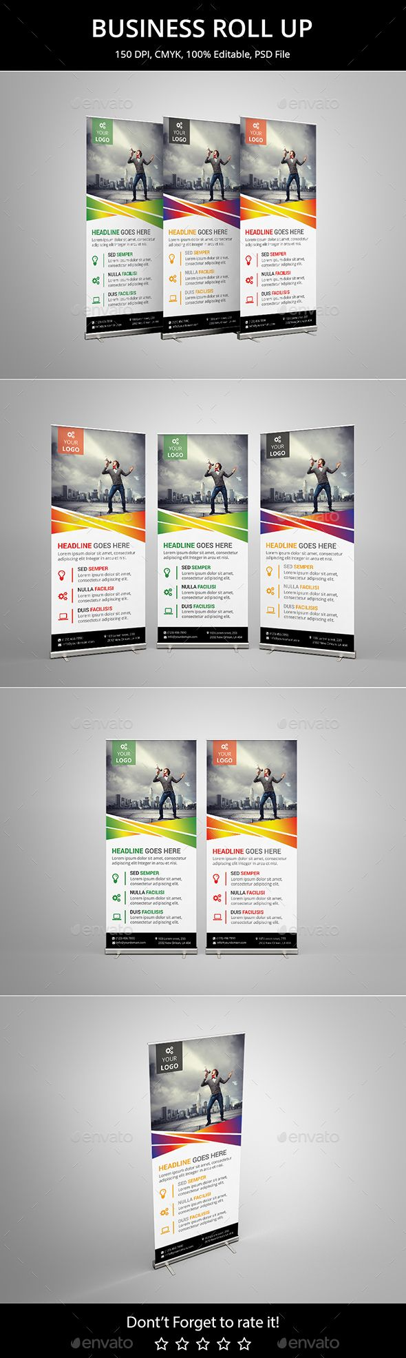 Business Roll up Template PSD. Download here: http://graphicriver.net/item/business-roll-up-v9/16061788?ref=ksioks
