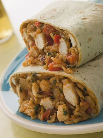 Chicken Rice and Cheese Burrito | Amazing Mexican Recipes