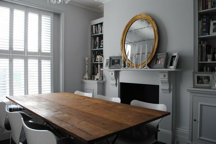 "Katharine & James' Glamorous Family Home in London House Tour | Apartment Therapy Paint - Farrow & Ball ""Blackened"" (really like this shade)"
