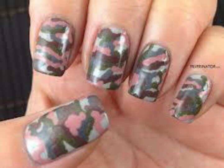 27 best country girl nails images on pinterest camouflage nails camo nails for spring solutioingenieria Images