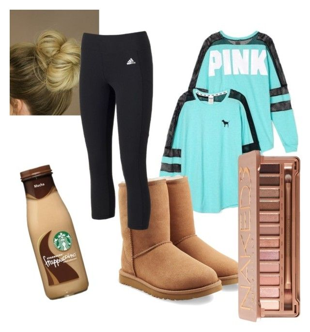 """Common White Girl"" by teaandrainclouds on Polyvore featuring Victoria's Secret, UGG, adidas and Urban Decay"