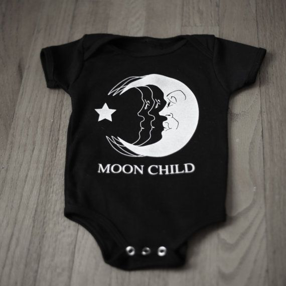Moon Child Baby Infant Grunge Punk One Piece by ABVHVN on Etsy, $15.00