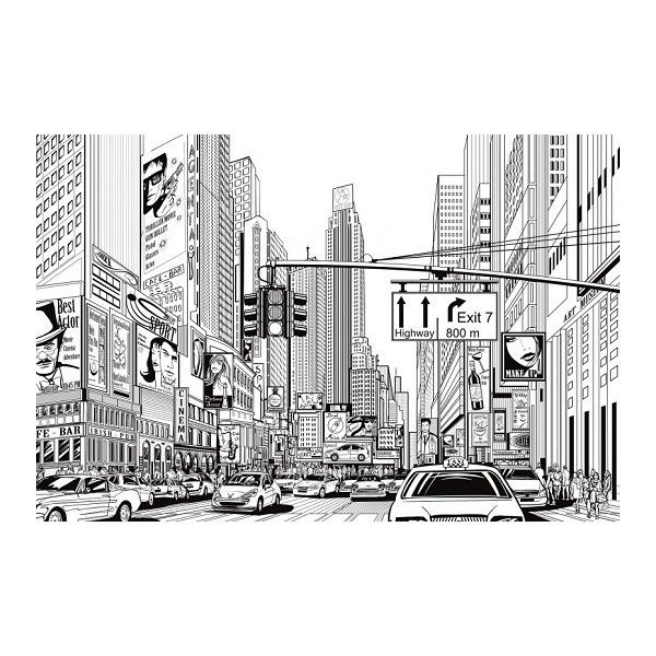 Rebel Walls Monochrome Cartoon City Wall Panel ($415) ❤ liked on Polyvore featuring home, home decor, wall art, backgrounds, fillers, drawings, pictures, art, interior wall decor and modern home accessories
