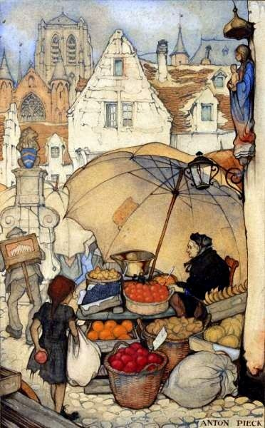 A Polar Bear's Tale: The fruit seller...Anton Pieck