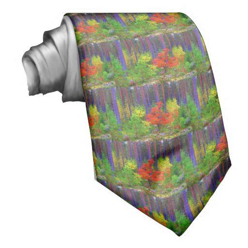 Fall colors custom tie