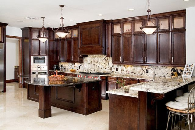 dark kitchen cabinets with light granite countertops 17 best images about home countertops on 14474