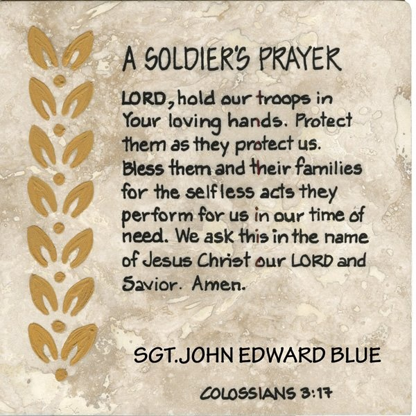 A Soldier's Prayer.