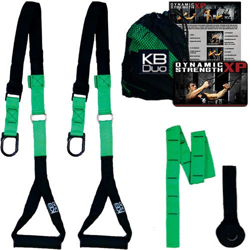 The KB-Duo is an amazing suspension training tool. Tone up, build muscle, and build your athletic abilities wherever you wish to train. The KB-Duo can take the place of all your gym equipment and give you the resistance needed to see big results fast.