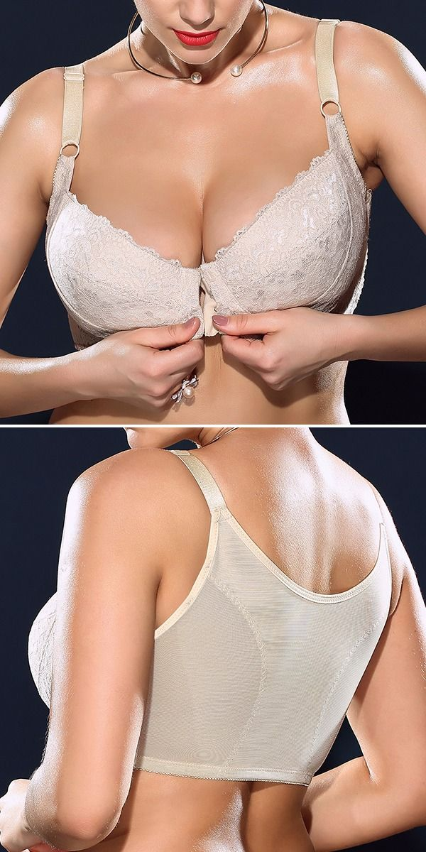 88e3c729584 H Cup Front Closure Gather Embroidery Plus Size Push Up Thin Bra ...
