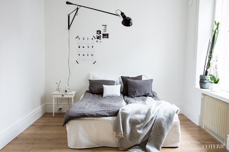 Two friends, one blog driven by a passion for fashion and interior. Join our coterie at www.coterie.fi   #Coterieofficial #Coterie #blog #interior #home #deco #decoration #decor #white #grey #Scandinavian #scandinavianstyle #scandinatiandesign #bedroom #minimalist #walllamp #Flos265 #bed #IKEA #bedsheets #hmhome #bedskirt #Bemz #pillowcases #Bellora1883  #ZaraHome #linensheet #Balmuir #blanket #Klippan #bedsidetable #sidetable #Bukowskismarket #coffeemug #royalcopenhagen