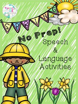 No prep activities are great for busy Speech Language Pathologists. With this no prep packet, you will be able to target a variety of speech and language activities. Articulation Worksheets: Pages 3-30Antonyms & Synonyms: Pages 31-37Comparatives/Superlatives: Pages 38-50 Compare & Contrast: Pages 51-56Prepositions: Pages 57-59Verbs: Pages 60-64Coloring Pages: Pages 65-69Dont ForgetEarn TpT Credits for purchases on TpT.