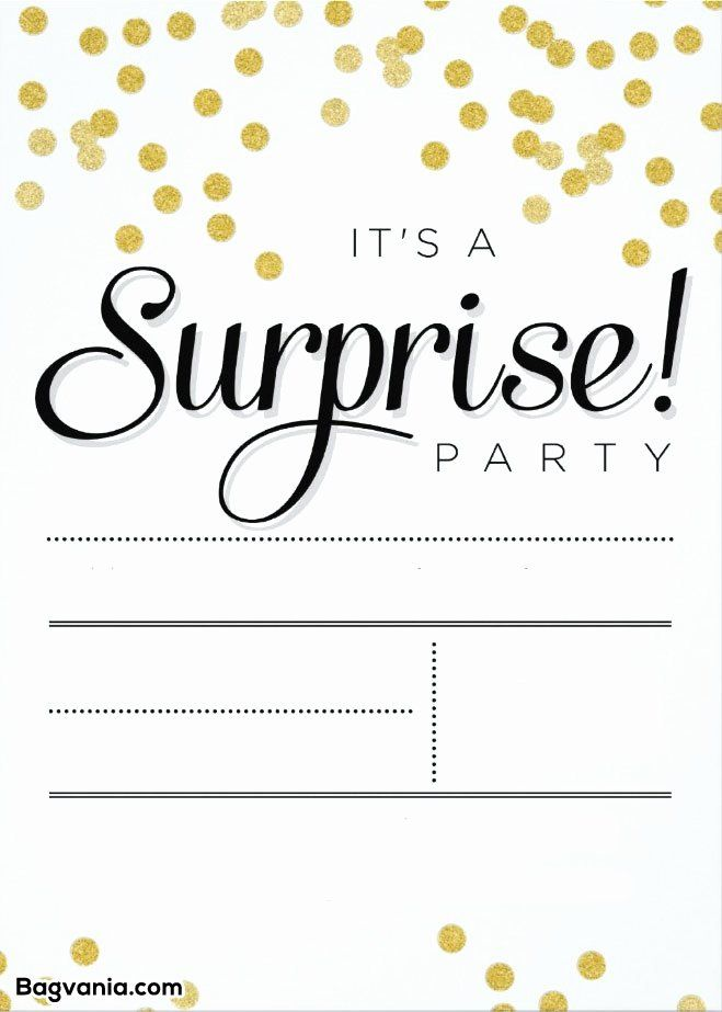 Surprise Party Invitation Template Awesome Free Printable Surprise Birthda Surprise Party Invitations Surprise Birthday Party Invitations Party Invite Template
