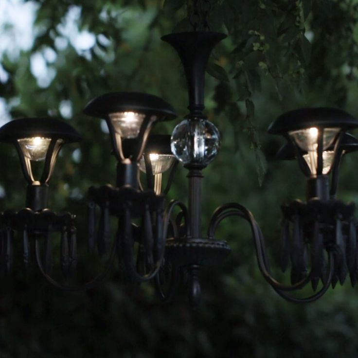 Garden Lighting Ideas topology athina bluff outdoor lighting ideas Light Up Your Garden With This Diy Solar Chandelier