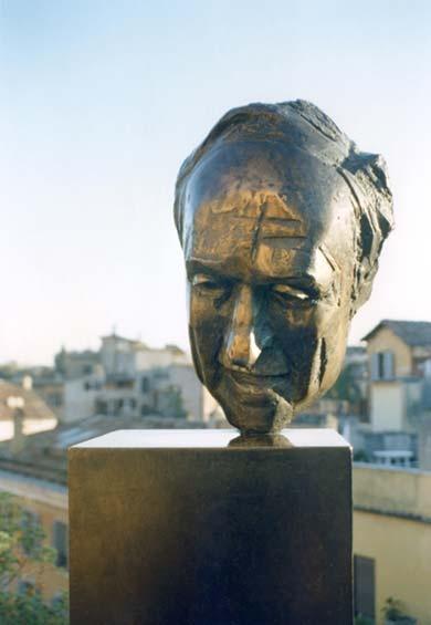 krzysztof m. bednarski, portret mario schifano, 1991, brąz
