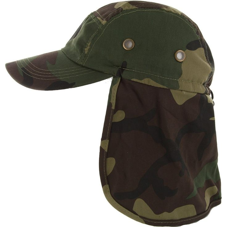 Low Profile Ear Neck Cover Sun Flap Cap
