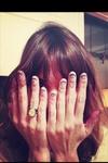Alexa Chung nail art!