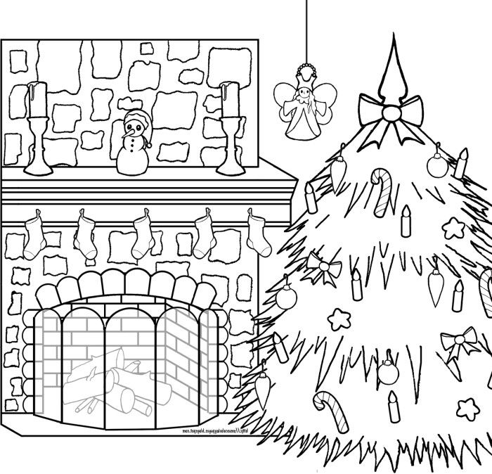 Christmas coloring pages moreover christmas fireplace coloring pages