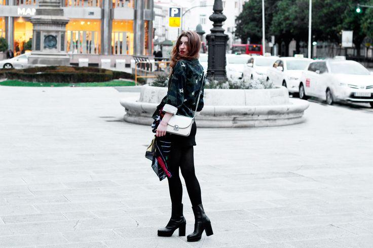 mini falda con lace-up- Martina Lubian