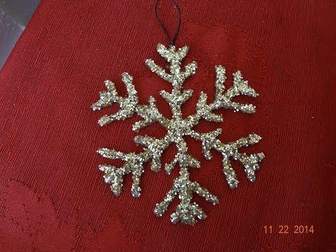 Manualidades Navideñas! Como hacer un copo de nieve,decoracion - DIY snowflake - YouTube