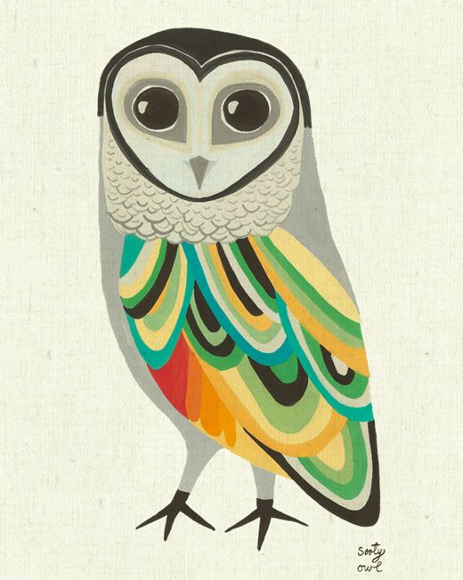 Inaluxe @ Etsy. Love!: Owl Illustrations, Color Owl, Sooti Owl, Birds Art, Owl Prints, Art Idea, Owl Art, Art Prints, Hope Sooti